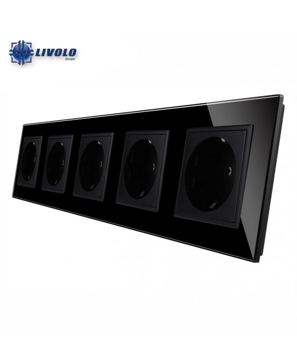 Livolo Wall Power Quintuple Sockets