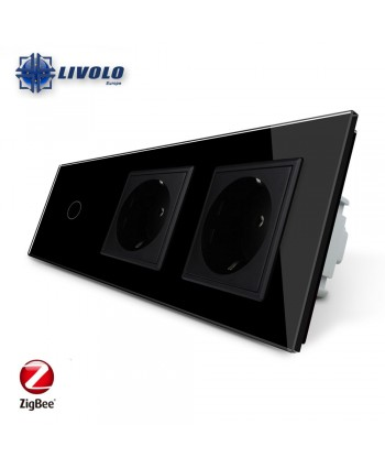 Livolo 1 Gang + 2 Sockets - ZigBee