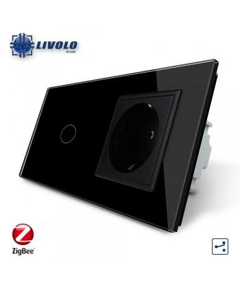 Livolo 1 Gang 2 Way + Socket - ZigBee