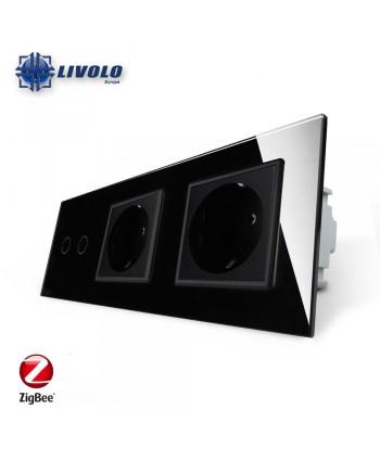 Livolo 2 Gang + 2 Sockets - ZigBee
