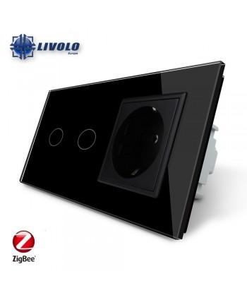 Livolo 2 Gang + Socket - ZigBee