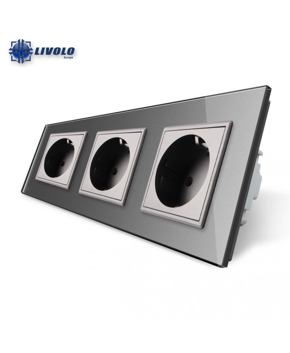 Livolo Wall Power Triple Sockets