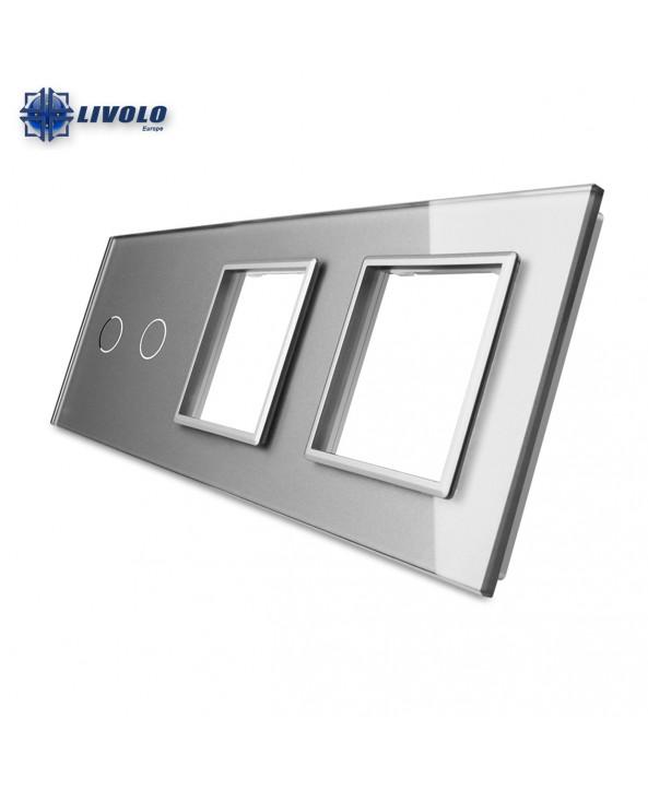 Livolo Triple Crystal Panel 2-S-S