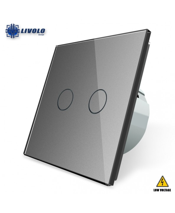 Livolo 2 Gang - 1 Way (Low Voltage)