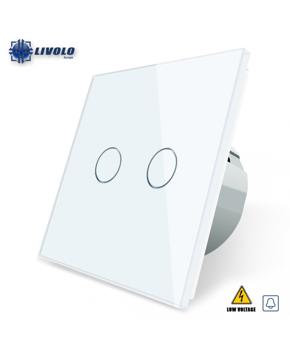 Livolo 2 Gangs Doorbell/Impulse Switch (Low Voltage)