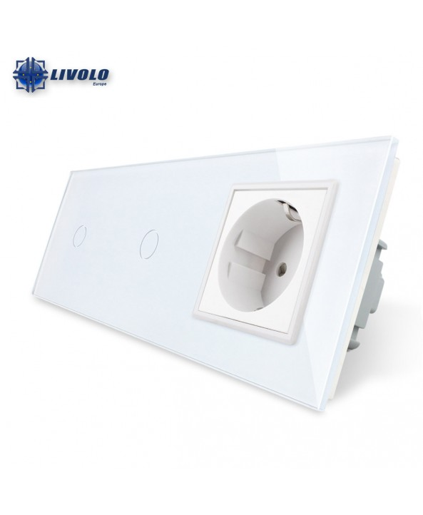 Livolo 1-1 Gang 2 Way + Socket