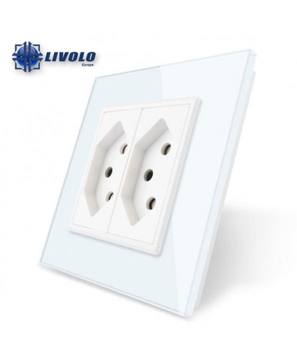 Livolo Wall Power Double Switzerland Socket