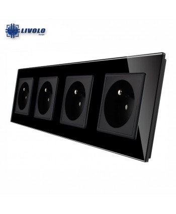 Livolo Wall Power Quadruple French Sockets