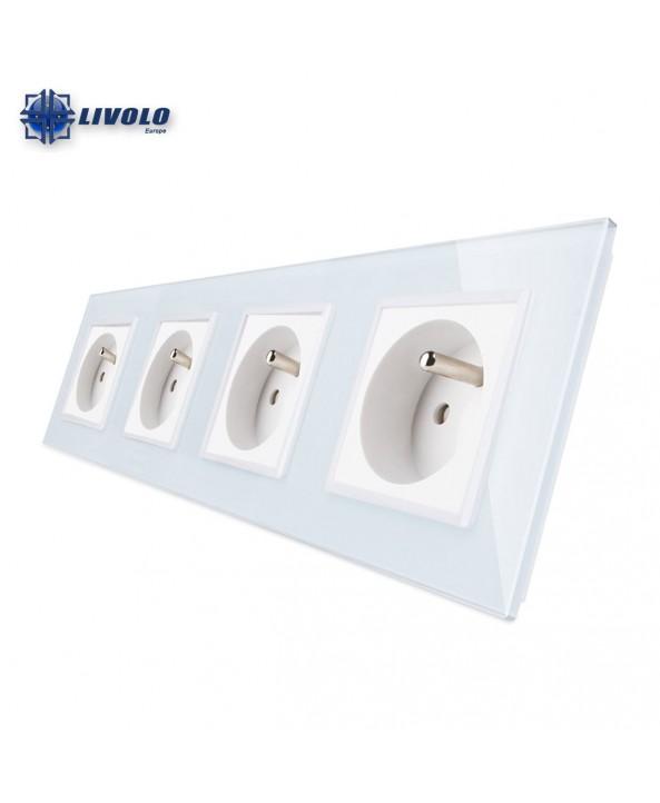 Livolo Wall Power Quadruple French Sockets