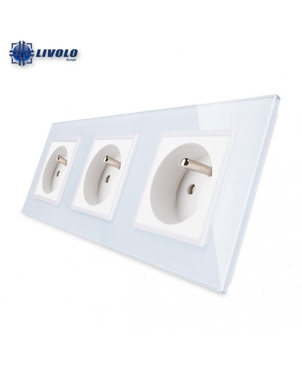 Livolo Wall Power Triple French Sockets