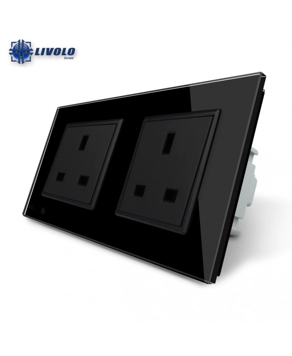 Livolo Wall Power Double UK Socket