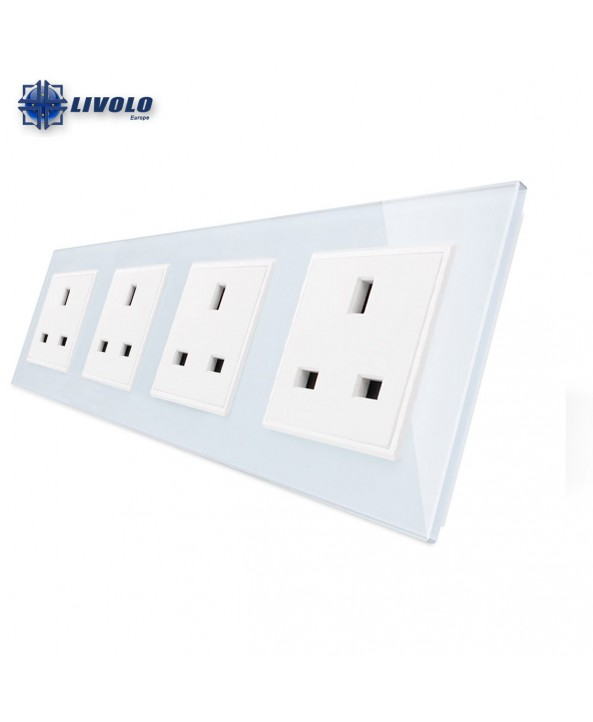 Livolo Wall Power Quadruple UK Sockets