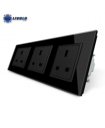 Livolo Wall Power Triple UK Sockets