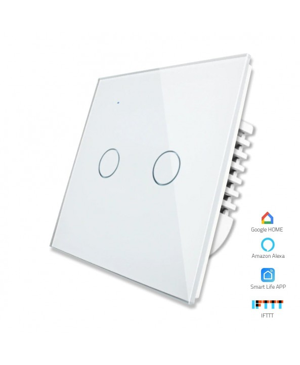 2 Gang - 1/2 Way | Wifi Smart Switch