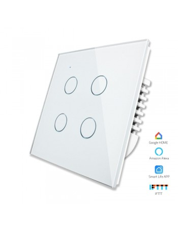 4 Gang - 1/2 Way | Wifi Smart Switch